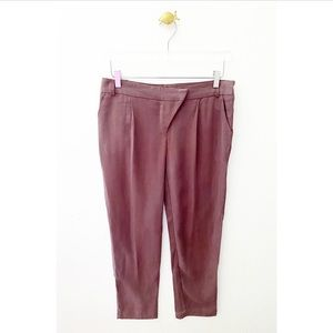 cartonnier / purple straight anthropologie pants